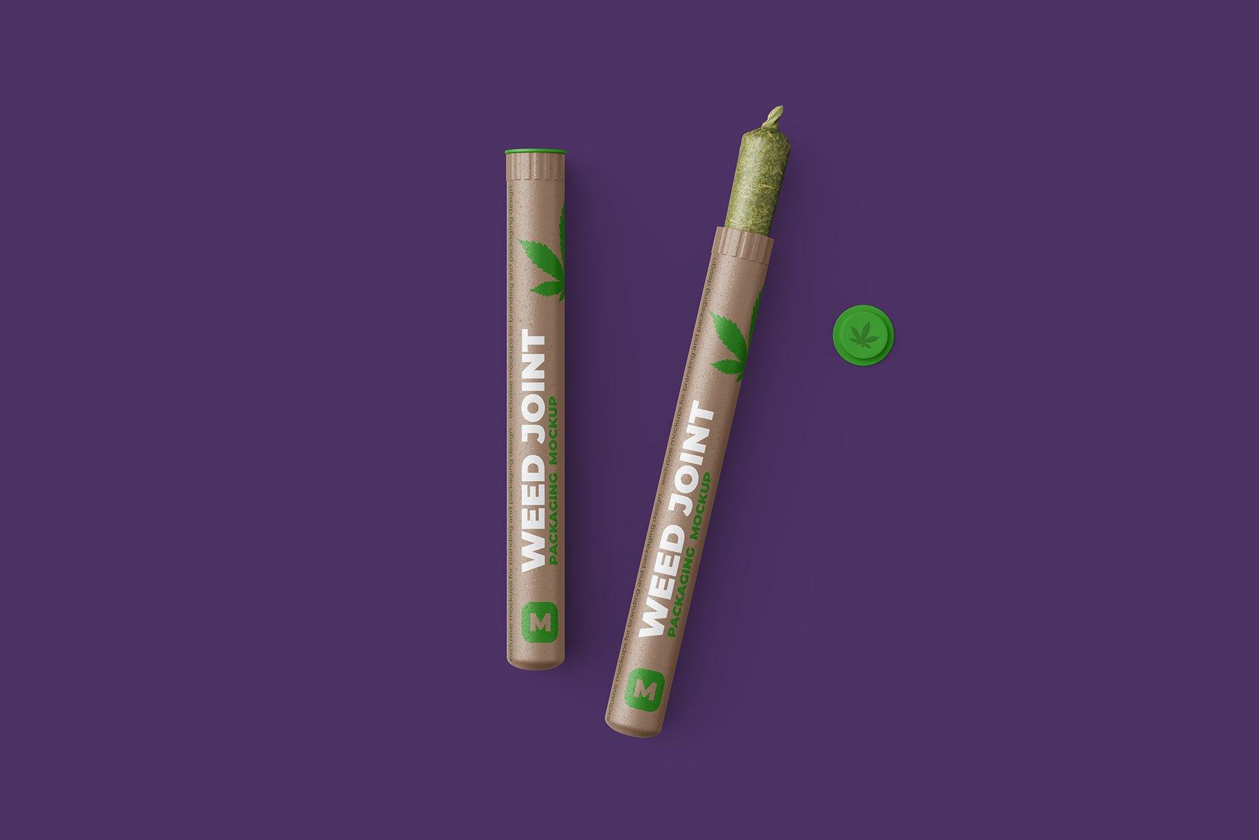 香烟雪茄联合预卷管样机 Weed Joint Pre-Roll Tubes Mockup插图3