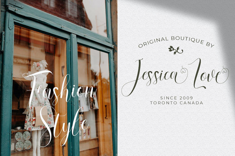 现代优雅杂志标题徽标Logo设计手写英文字体素材 Rusthina Font插图2