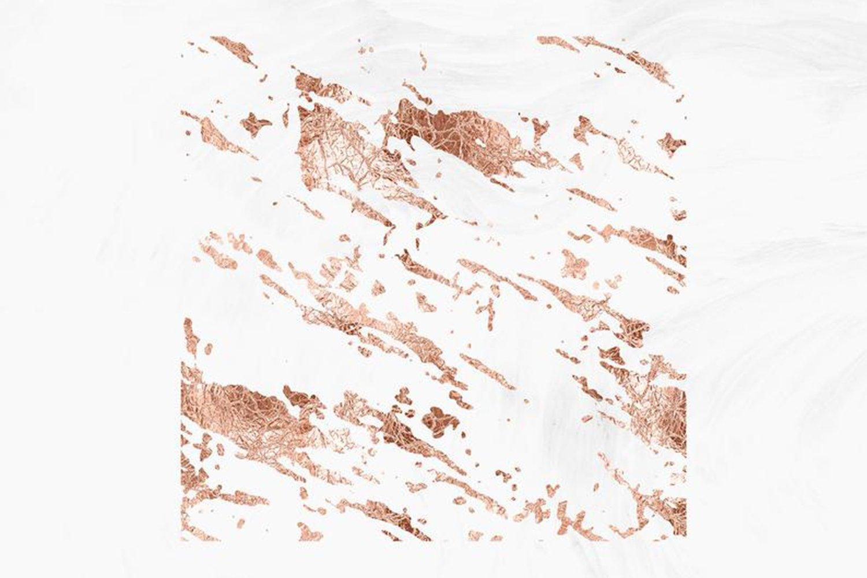 10款抽象玫瑰金箔纸框架剪贴画背景图片素材 Rose Gold Foil Abstract Borders Clipart插图3