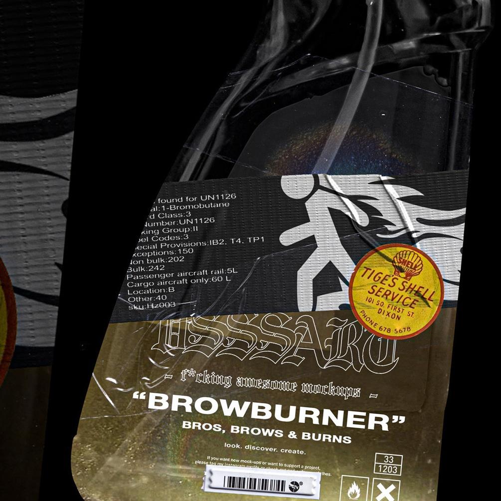 潮流复古喷雾瓶标签贴纸设计展示PS贴图样机模板 VSSSART – Browburner Spray Mockup插图3