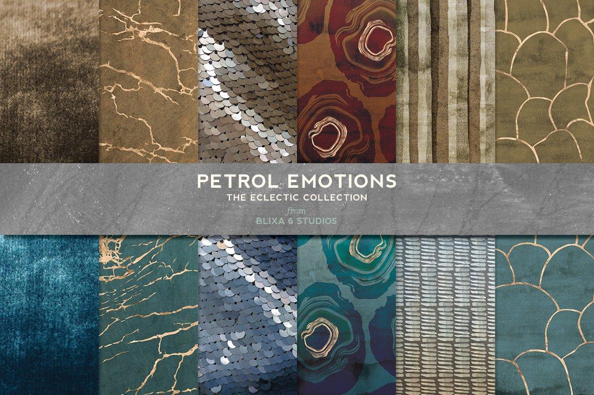168款时尚优雅抽象玫瑰金大理石纹理背景图片设计素材套装 168 Abstract Textures & Patterns插图3