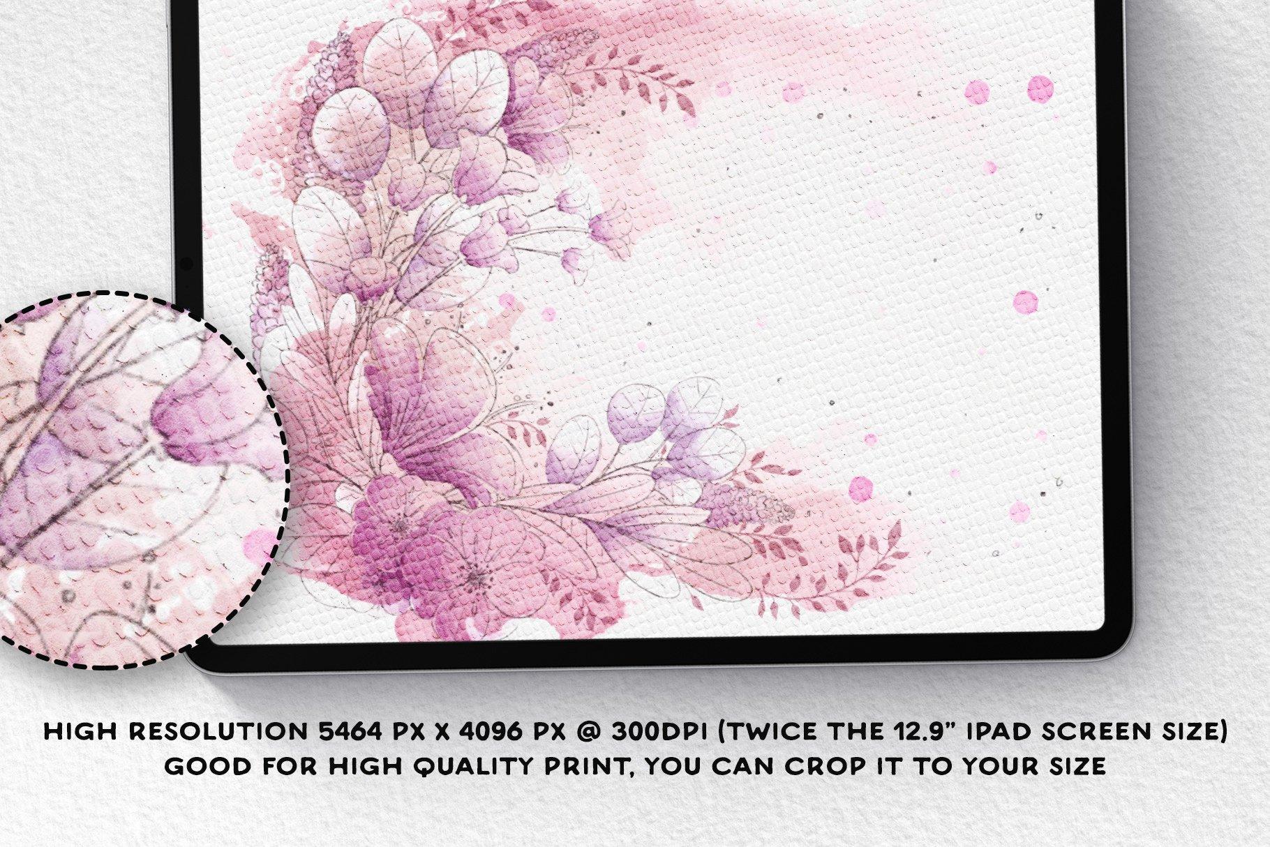 [单独购买] 17款逼真绘画画布背景Procreate纸纹理设计素材 Procreate Paper Texture Canvases插图3