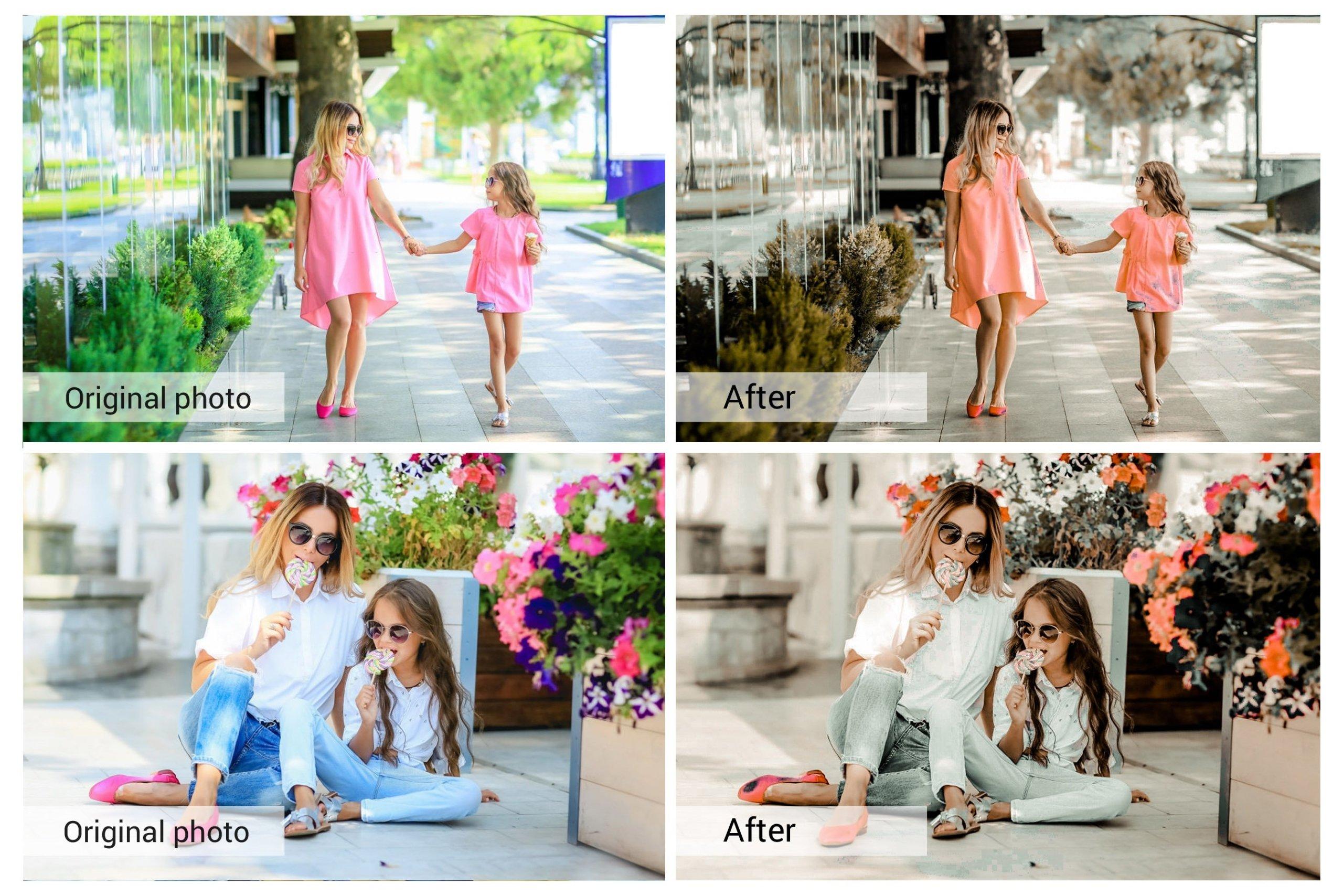奶油咖啡色照片调色滤镜LR预设&PS动作套装 Coffe Milk Presets Photoshop Actions插图4