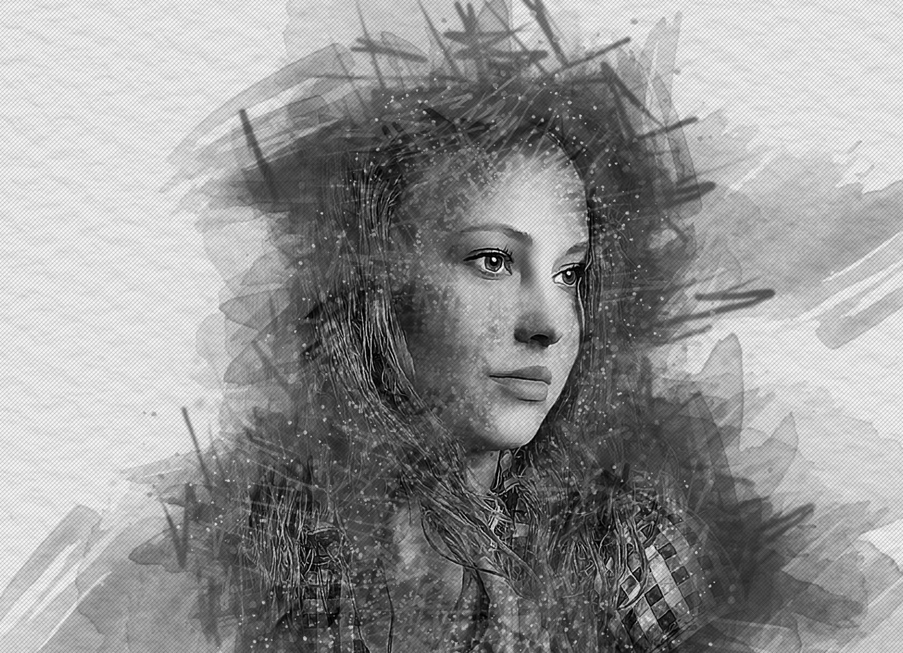 逼真水彩画效果照片处理特效PS动作模板 Watercolor Photoshop Action插图4
