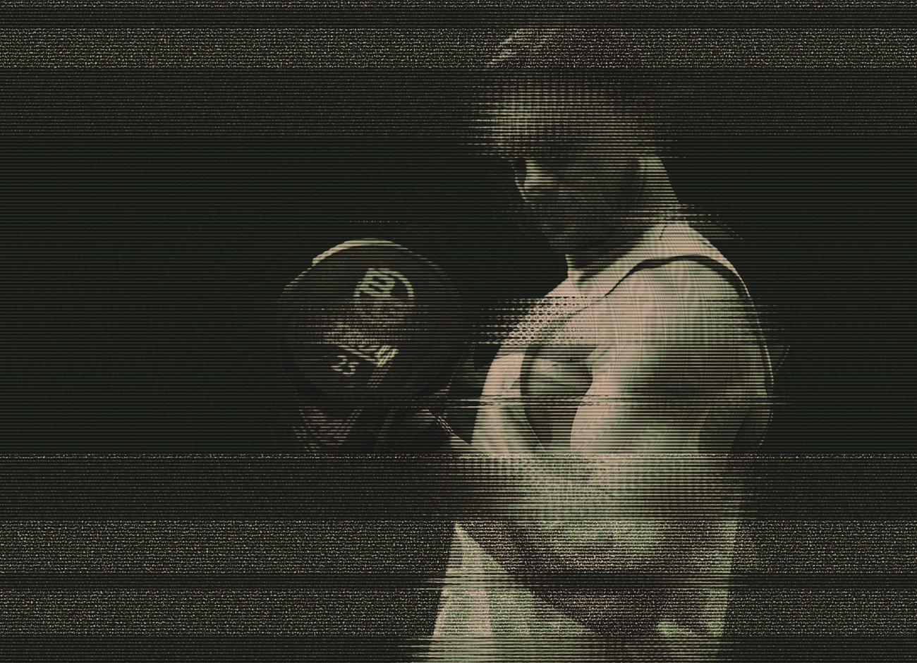 潮流故障风人像照片处理特效PS动作模板 Glitch Portrait Effect PS Action插图4