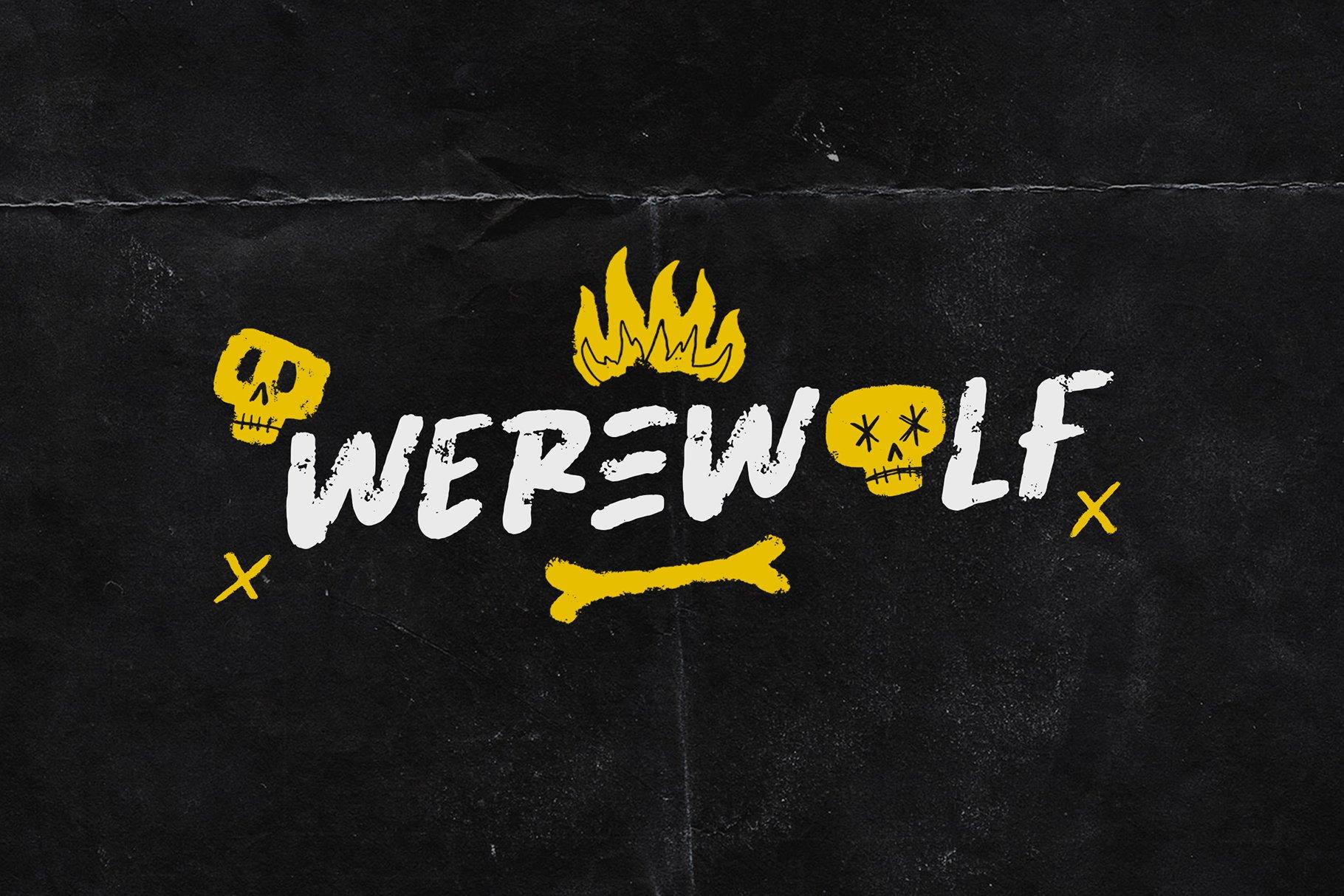 潮流粗糙手写杂志海报品牌Logo标题英文字体设计素材 Abused Font插图3