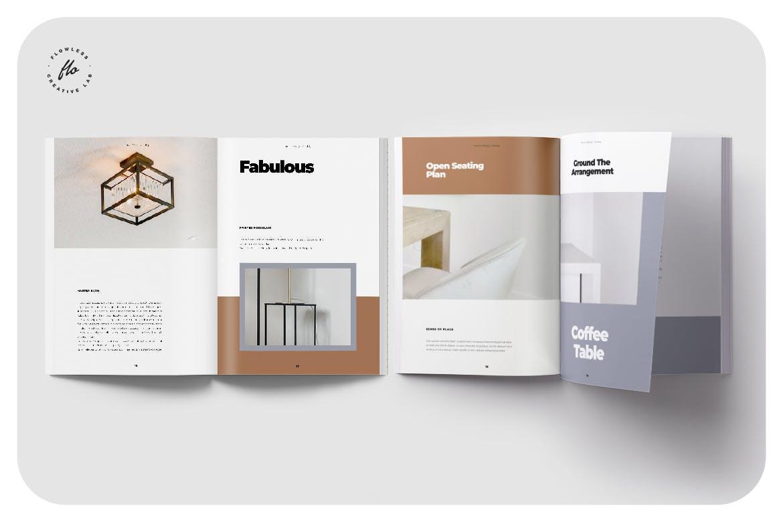 室内家具家居设计作品集目录排版INDD画册模板素材 Melissa Interor Design Catalog插图3