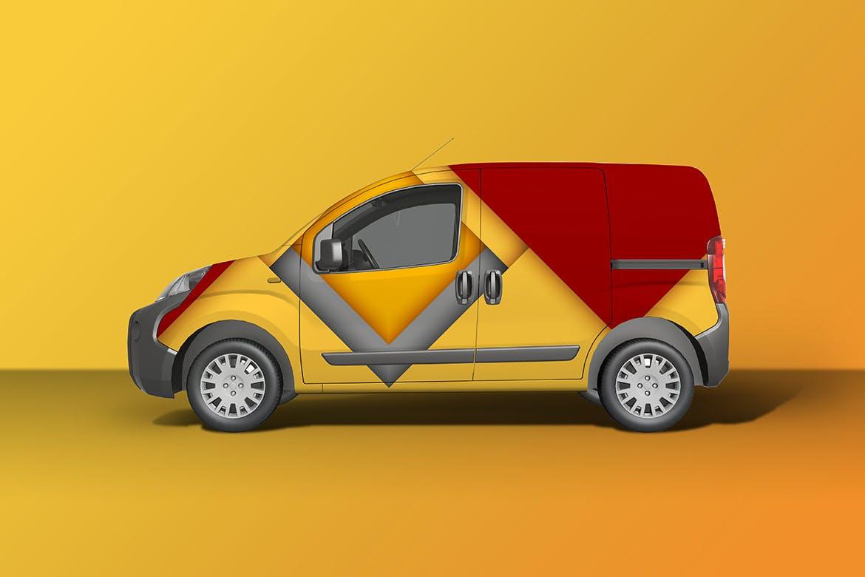 密封货车面包车车身广告设计展示样机 Car Mockup [Vol3]插图3