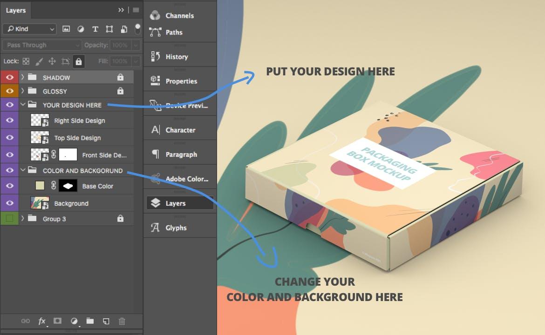 产品快递纸盒设计展示样机模板 Packaging Box Mokcup插图3