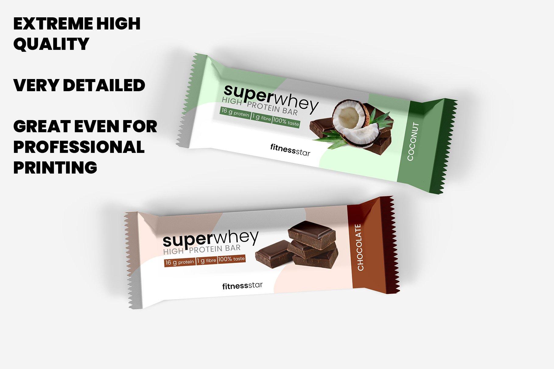 9款零食小吃塑料包装袋设计展示贴图样机 Snack Protein Bar Mockup – 9 Views插图4