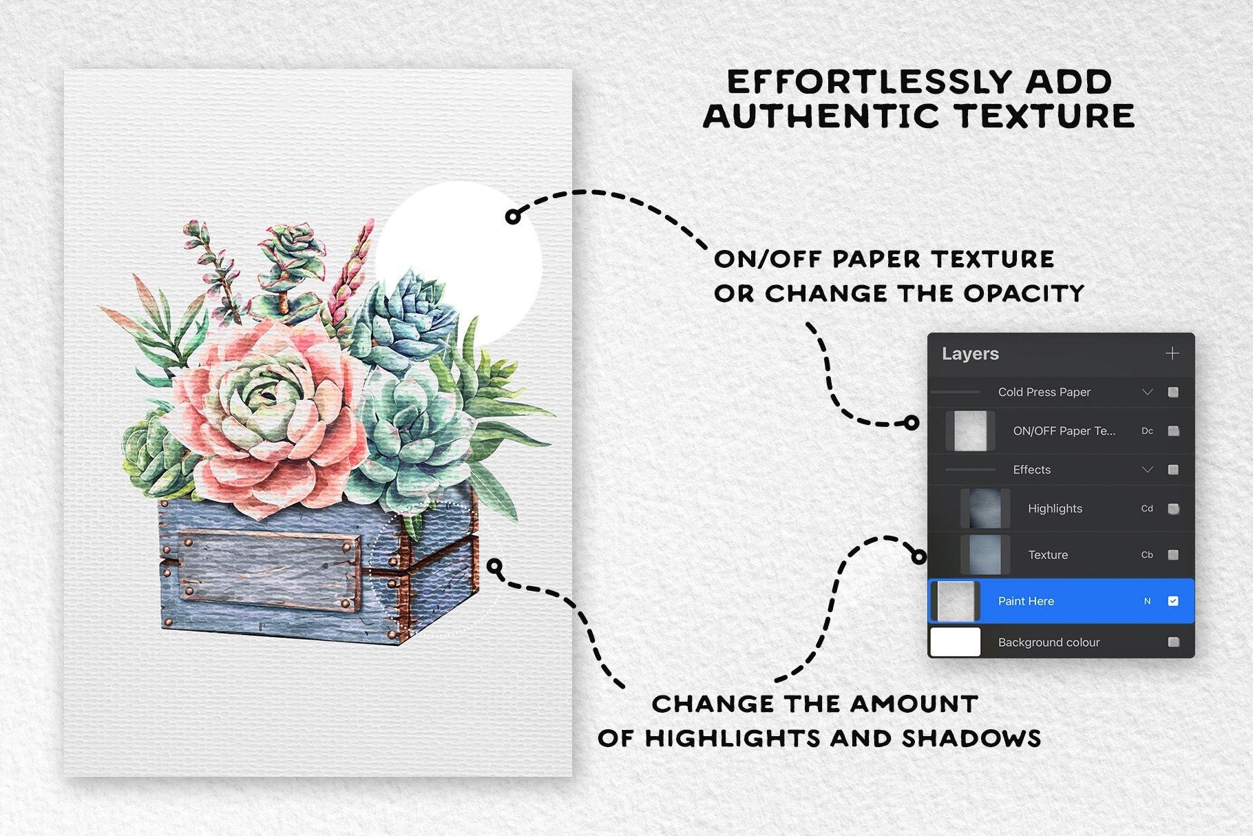 [单独购买] 17款逼真绘画画布背景Procreate纸纹理设计素材 Procreate Paper Texture Canvases插图4