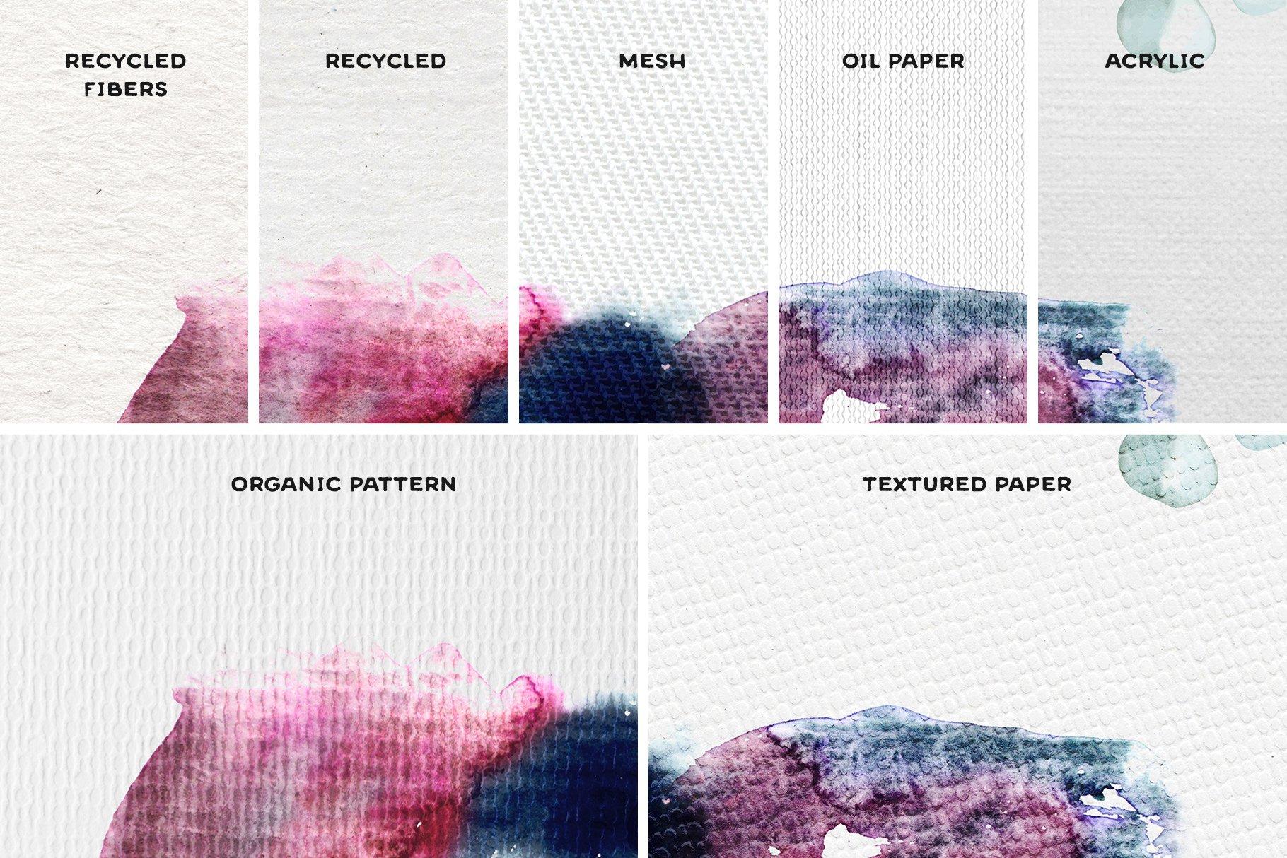[单独购买] 17款逼真绘画画布背景Procreate纸纹理设计素材 Procreate Paper Texture Canvases插图5