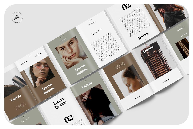 服装摄影作品集排版杂志INDD素材模板 Mahoony Photography Portfolio插图4