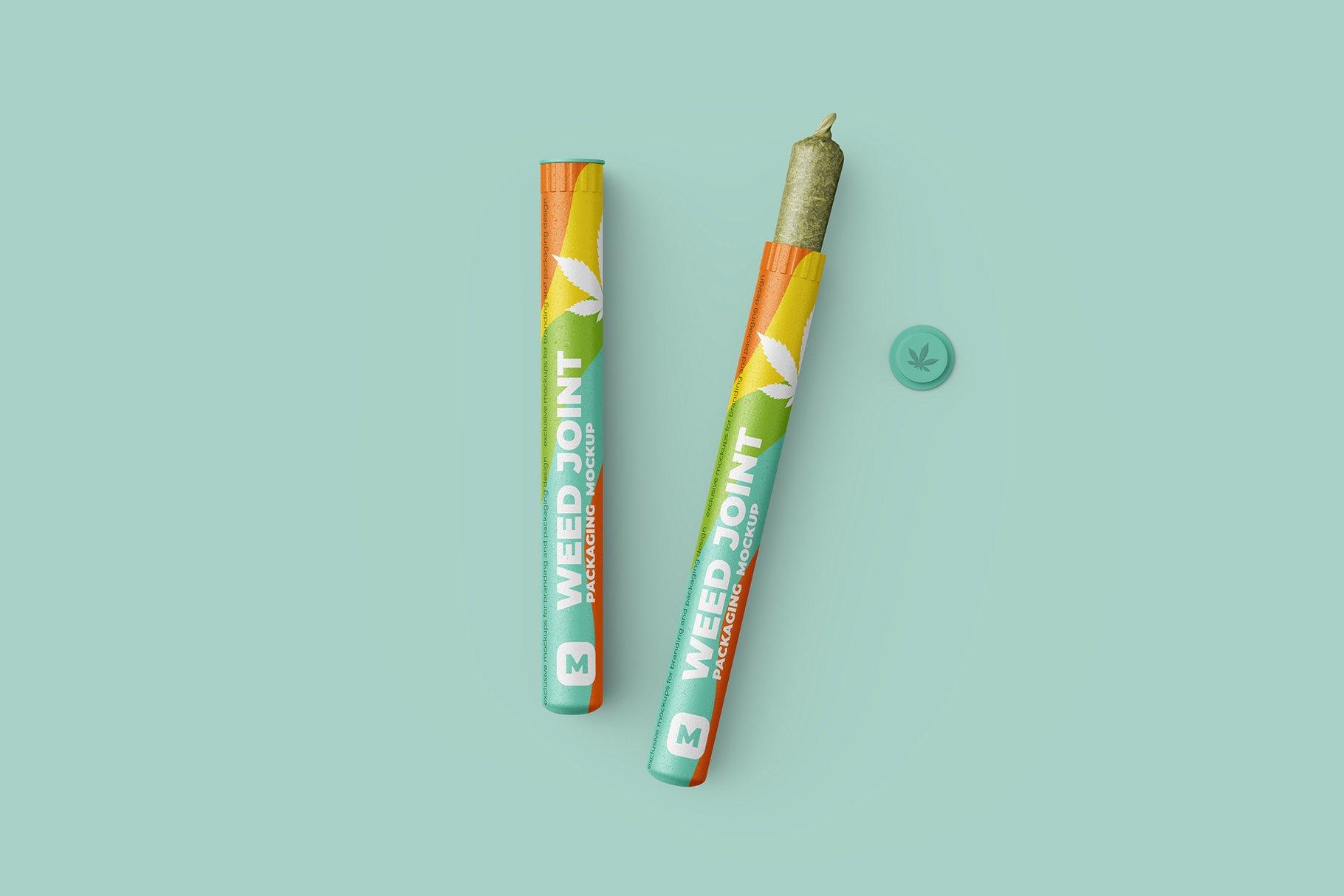 香烟雪茄联合预卷管样机 Weed Joint Pre-Roll Tubes Mockup插图4