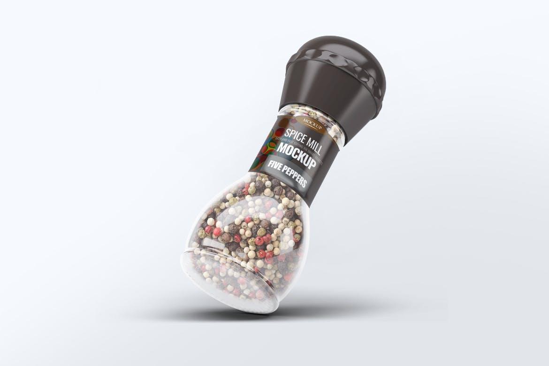 5款香料玻璃瓶模拟样机模板 Spice Mill Mock-Up插图4