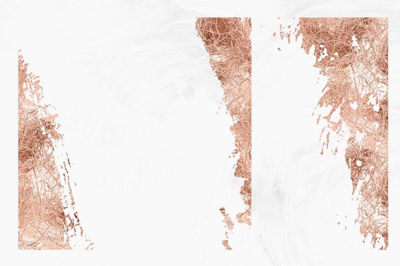 10款抽象玫瑰金箔纸框架剪贴画背景图片素材 Rose Gold Foil Abstract Borders Clipart插图4