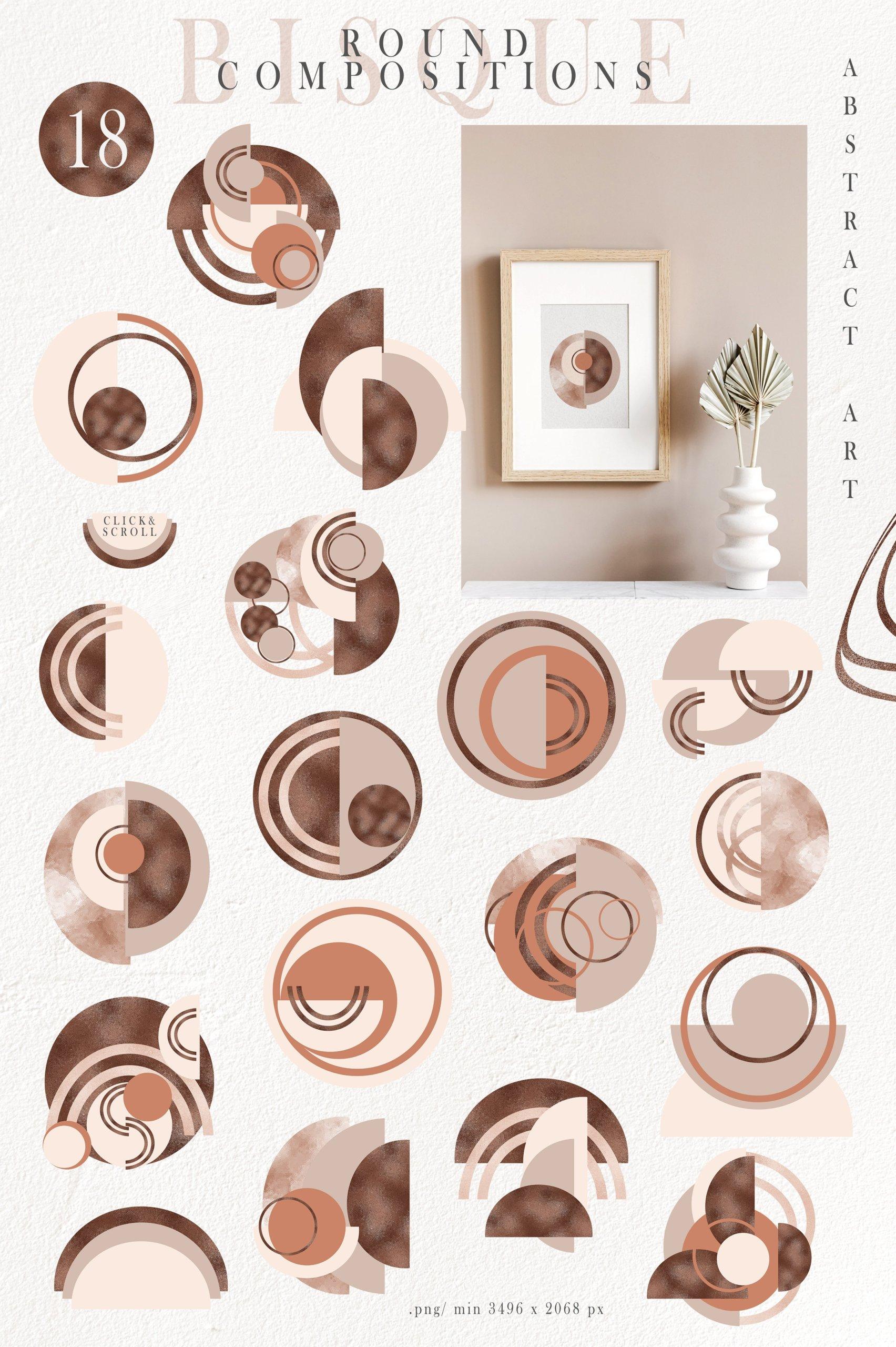 抽象巧克力奶油线条图形符号字母PNG透明背景图片设计素材 Abstract Shapes, Line Art, Alphabet插图4