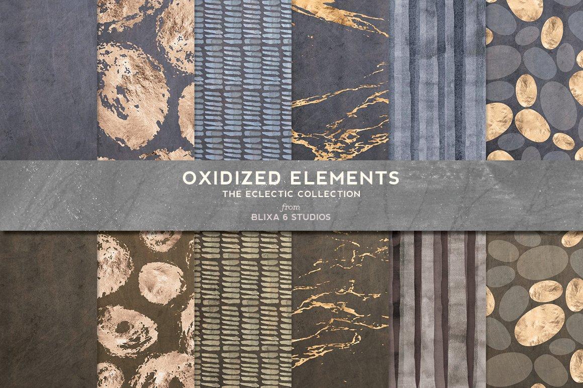 168款时尚优雅抽象玫瑰金大理石纹理背景图片设计素材套装 168 Abstract Textures & Patterns插图4
