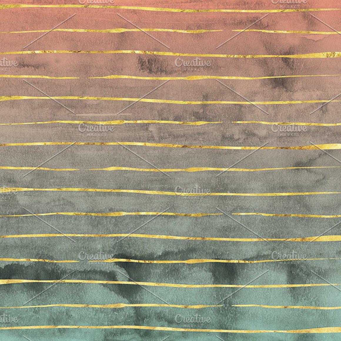 12款精致金线有机形状图片设计素材 Novembers Garden Golden Glimmer插图4