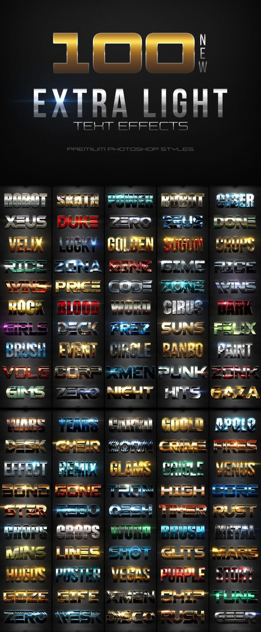 900多款3D立体金属质感标题Logo设计PS文字样式模板 900 Premium Photoshop Text Effects插图5