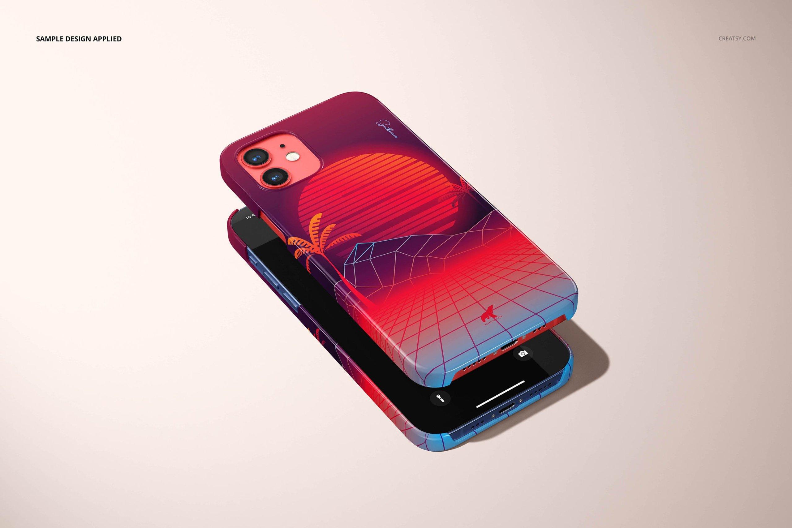 [单独购买] 26款时尚光滑苹果iPhone 12手机保护壳设计PS贴图样机模板素材 iPhone 12 Glossy Snap Case 1 Mockup插图11