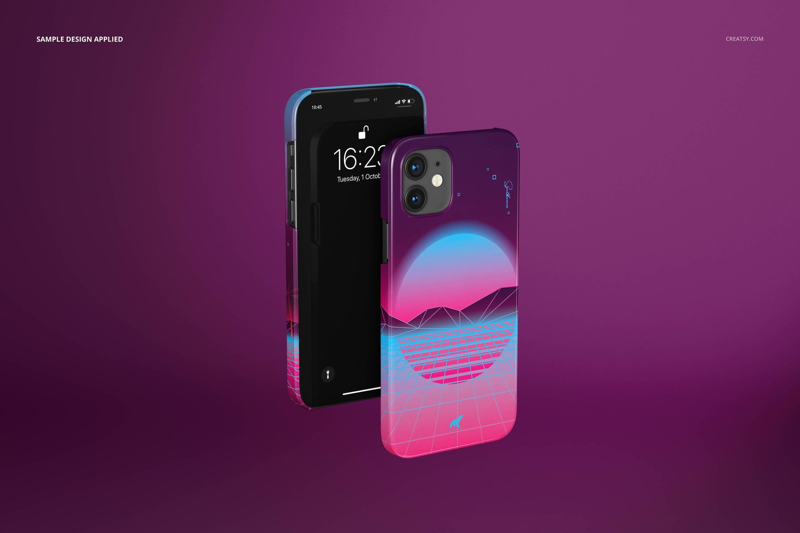 [单独购买] 26款时尚光滑苹果iPhone 12手机保护壳设计PS贴图样机模板素材 iPhone 12 Glossy Snap Case 1 Mockup插图16