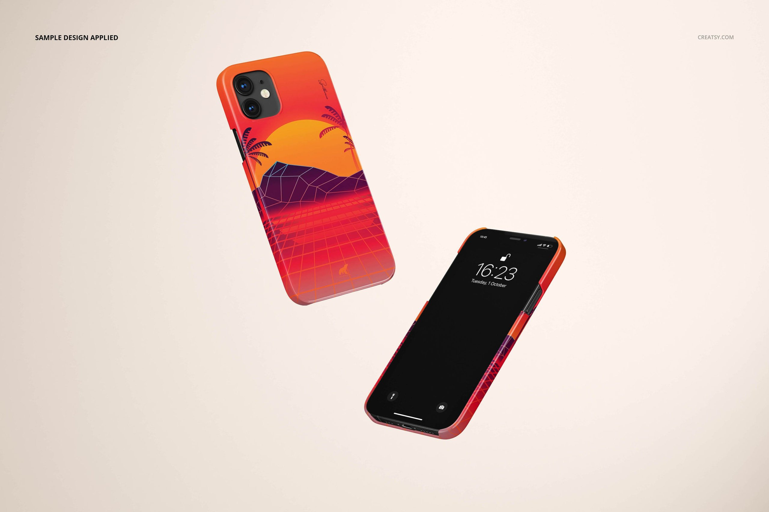 [单独购买] 26款时尚光滑苹果iPhone 12手机保护壳设计PS贴图样机模板素材 iPhone 12 Glossy Snap Case 1 Mockup插图19
