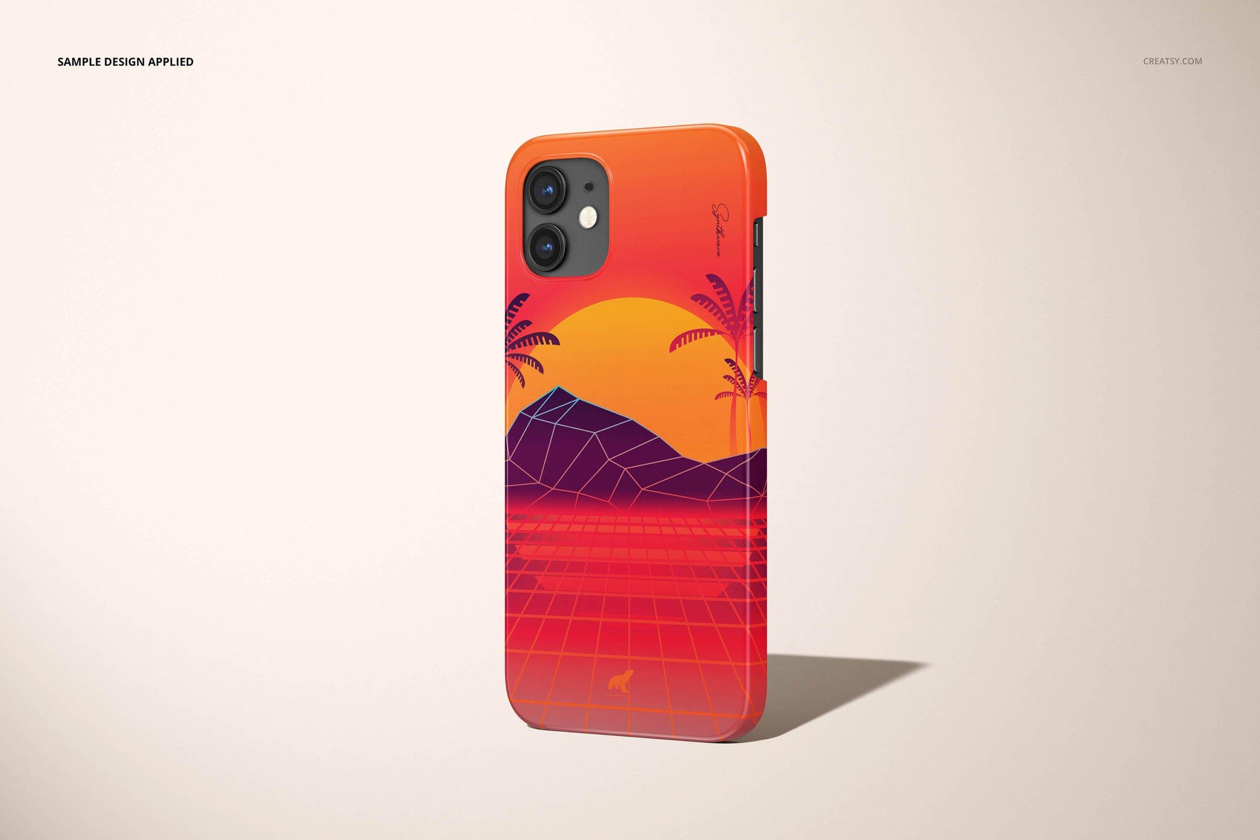 [单独购买] 26款时尚光滑苹果iPhone 12手机保护壳设计PS贴图样机模板素材 iPhone 12 Glossy Snap Case 1 Mockup插图26