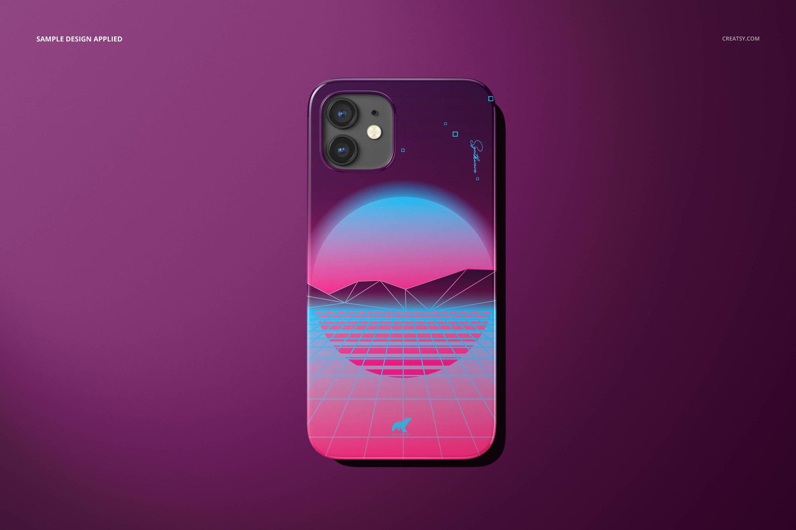 [单独购买] 26款时尚光滑苹果iPhone 12手机保护壳设计PS贴图样机模板素材 iPhone 12 Glossy Snap Case 1 Mockup插图28