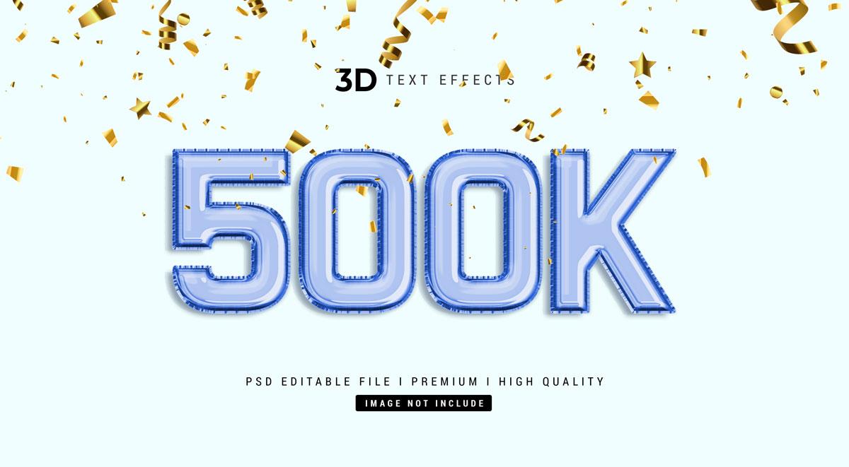 14款3D立体标题徽标设计PS样式模板素材 Text Effect Template插图1