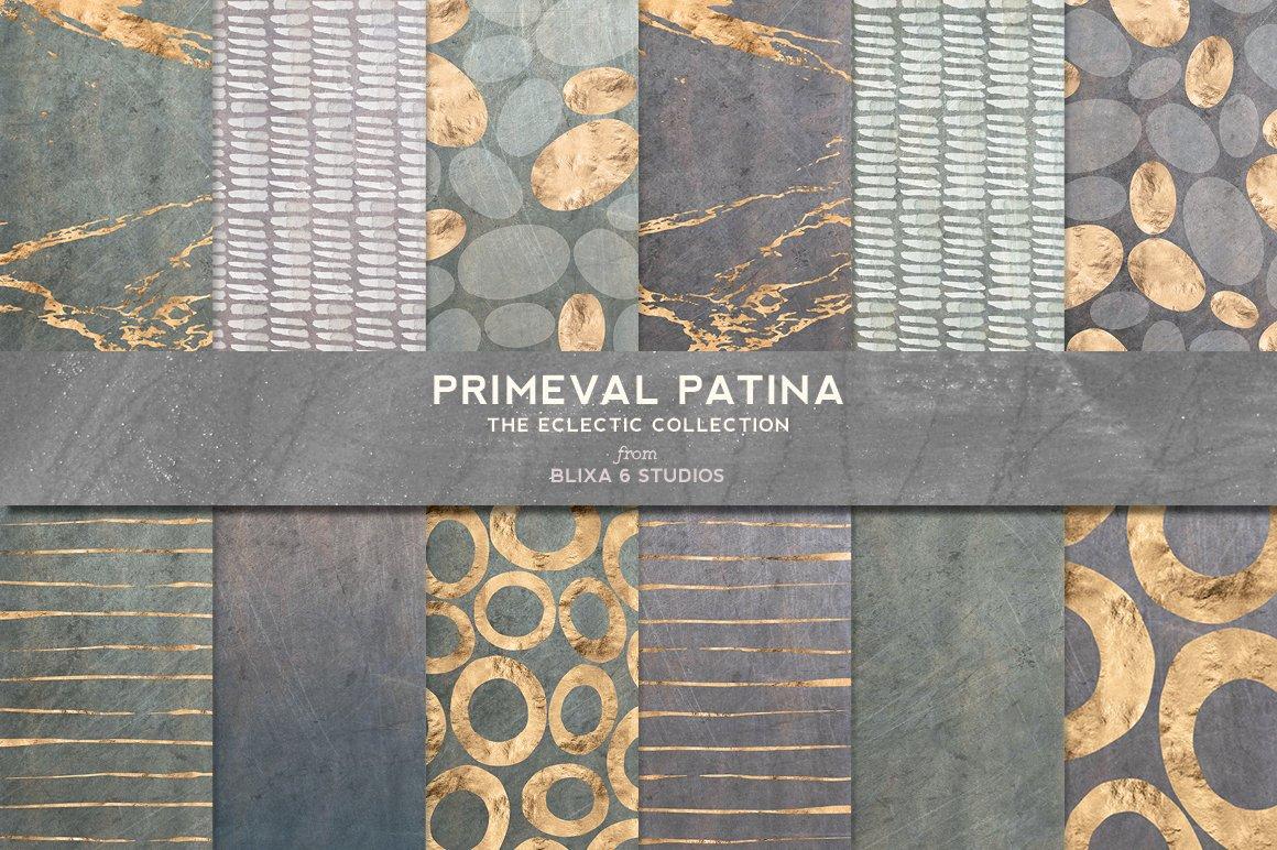 168款时尚优雅抽象玫瑰金大理石纹理背景图片设计素材套装 168 Abstract Textures & Patterns插图5