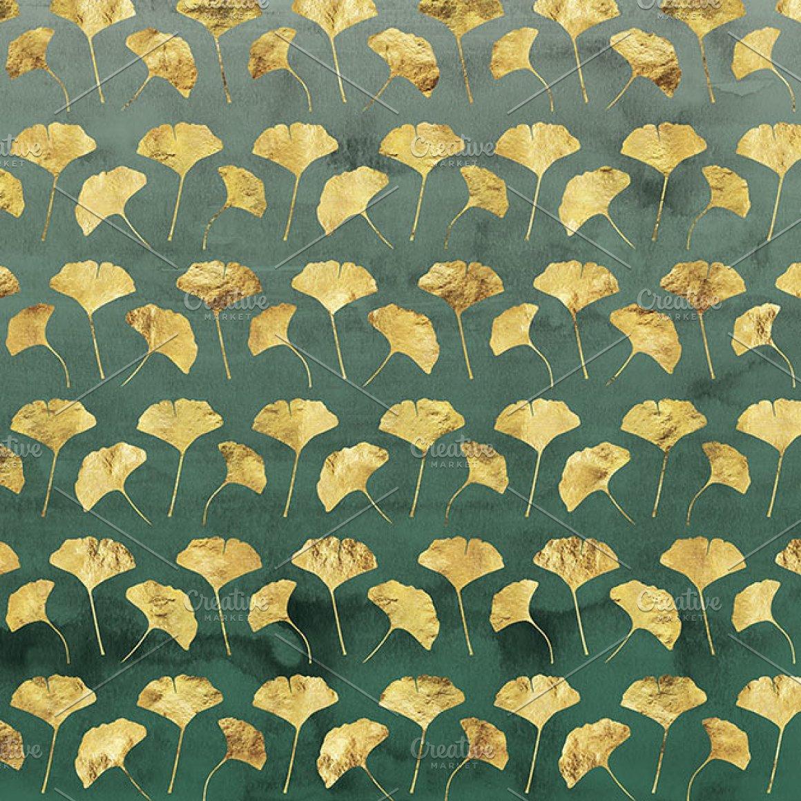 12款精致金线有机形状图片设计素材 Novembers Garden Golden Glimmer插图5