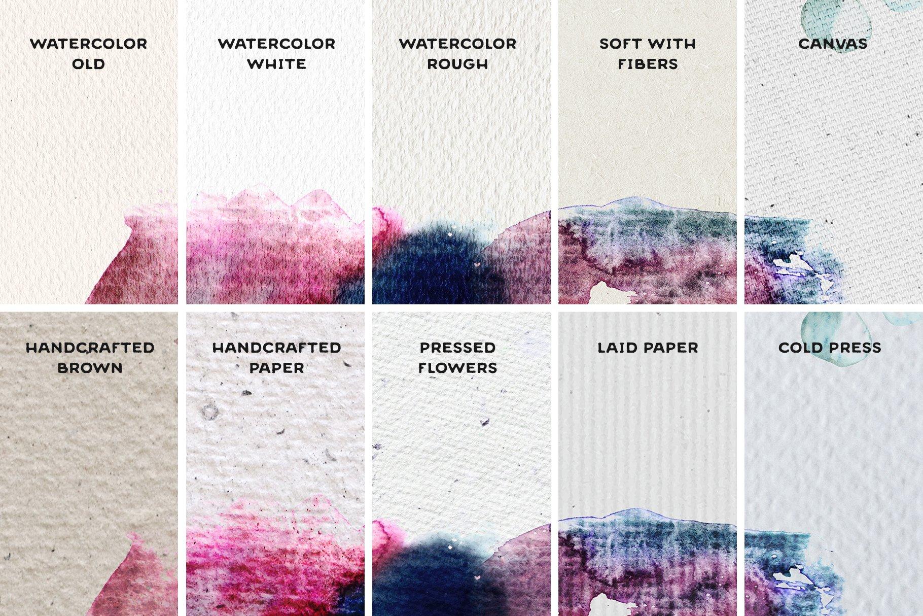 [单独购买] 17款逼真绘画画布背景Procreate纸纹理设计素材 Procreate Paper Texture Canvases插图6