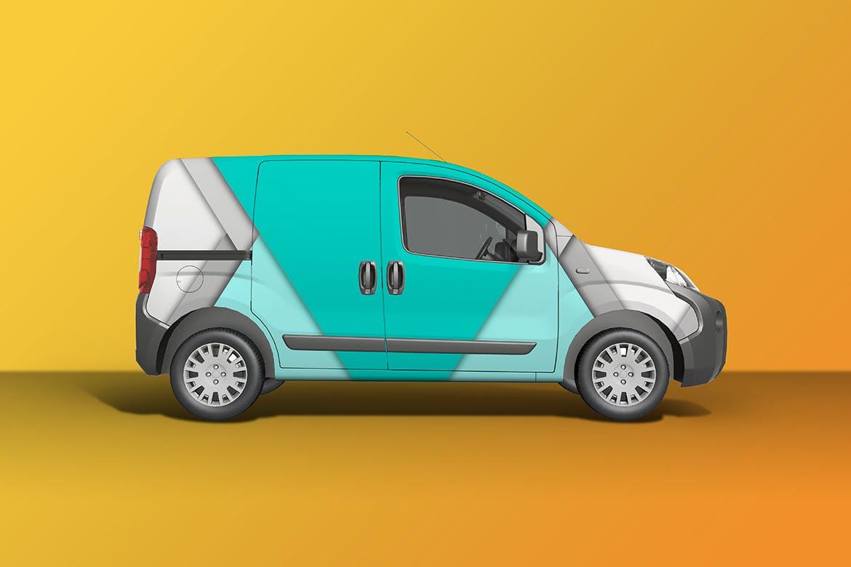 密封货车面包车车身广告设计展示样机 Car Mockup [Vol3]插图5