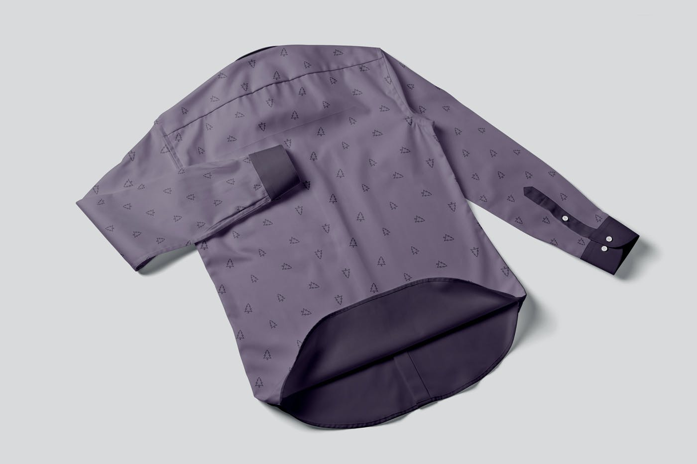男士纽扣衬衫印花设计PS贴图样机模板 Button Up Shirt For Men Mockups插图5