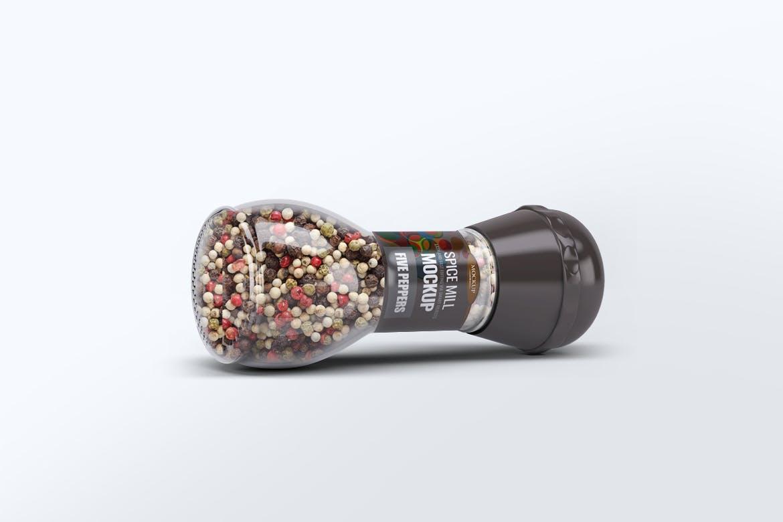 5款香料玻璃瓶模拟样机模板 Spice Mill Mock-Up插图5
