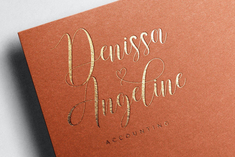 现代优雅杂志标题徽标Logo设计手写英文字体素材 Rusthina Font插图5