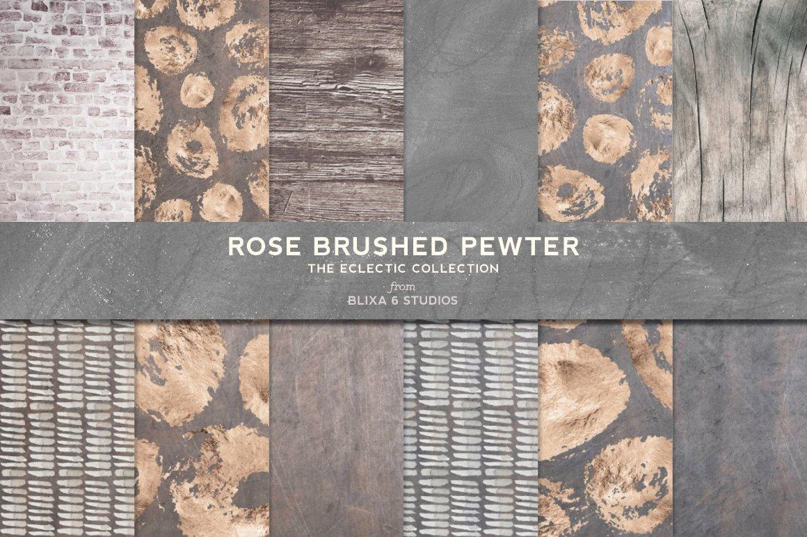 168款时尚优雅抽象玫瑰金大理石纹理背景图片设计素材套装 168 Abstract Textures & Patterns插图6