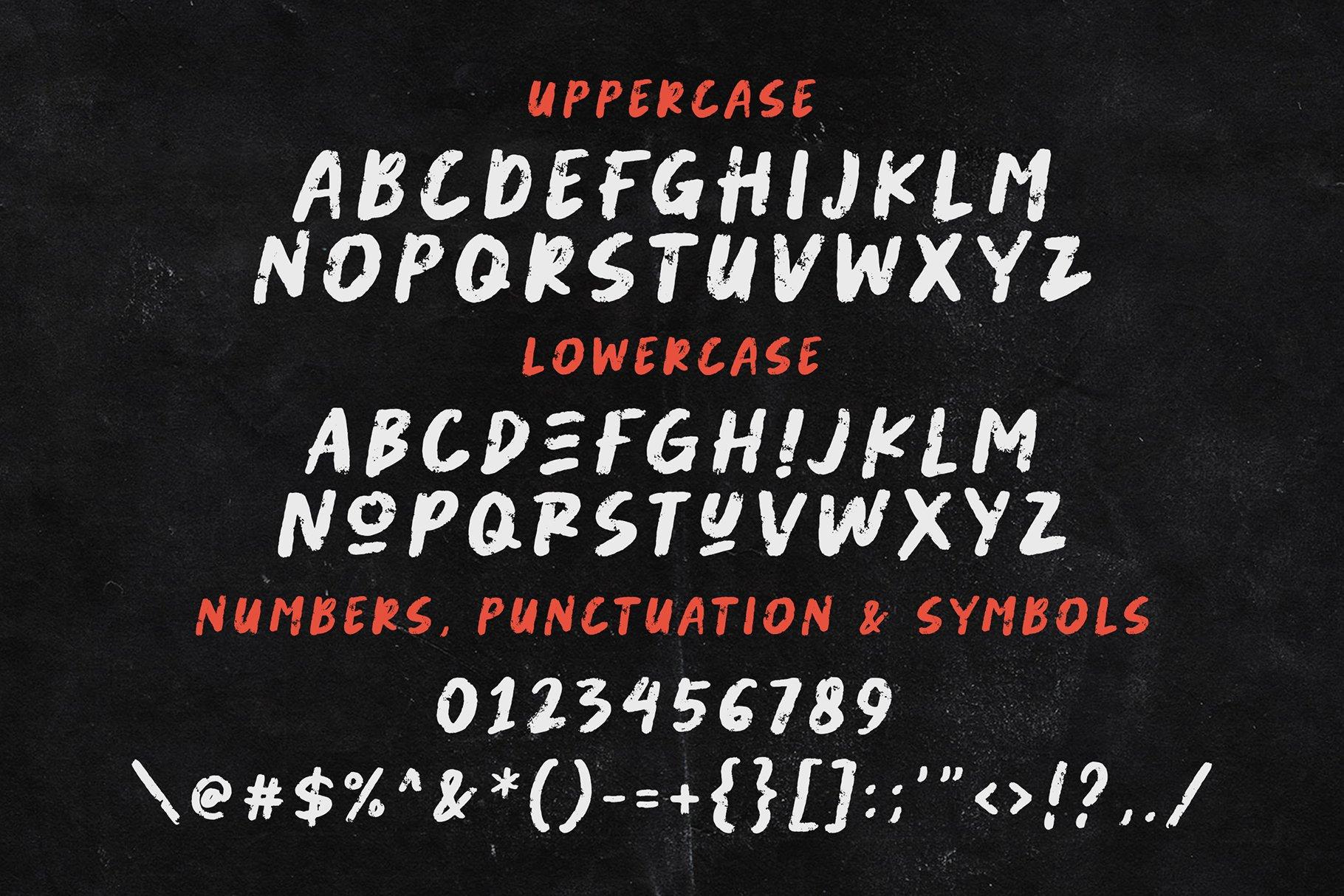 潮流粗糙手写杂志海报品牌Logo标题英文字体设计素材 Abused Font插图6
