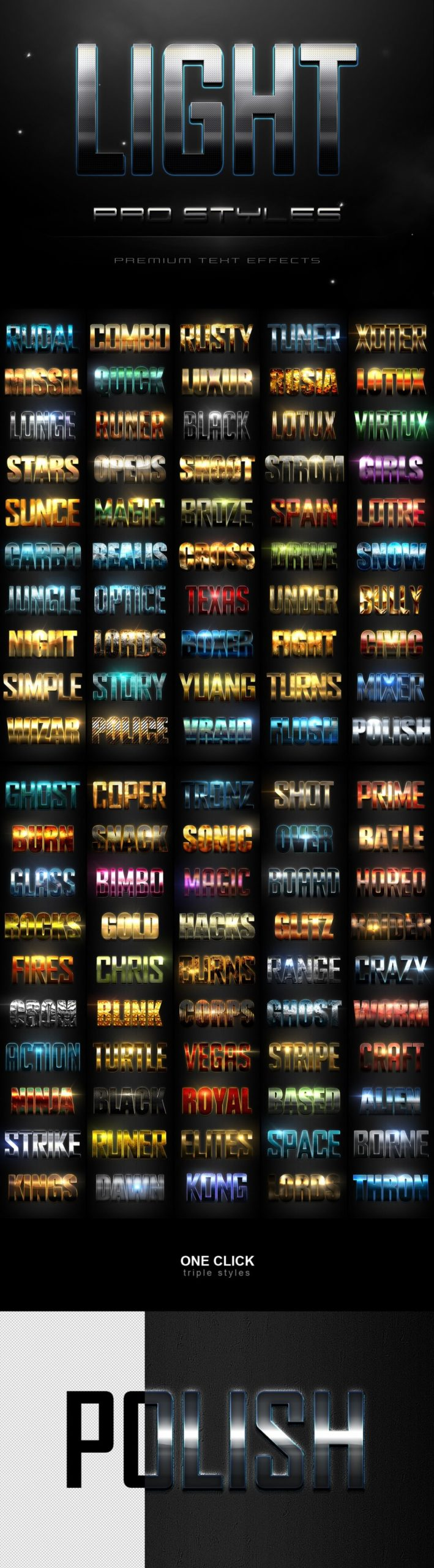900多款3D立体金属质感标题Logo设计PS文字样式模板 900 Premium Photoshop Text Effects插图7