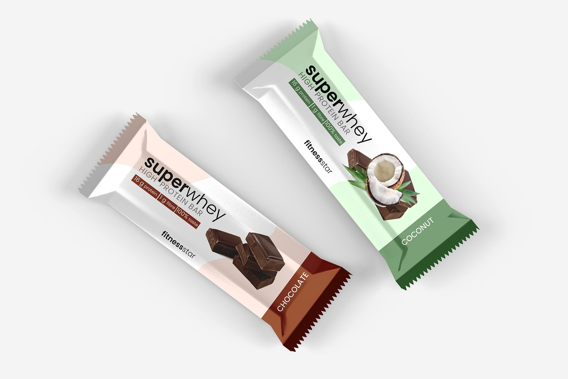 9款零食小吃塑料包装袋设计展示贴图样机 Snack Protein Bar Mockup – 9 Views插图7
