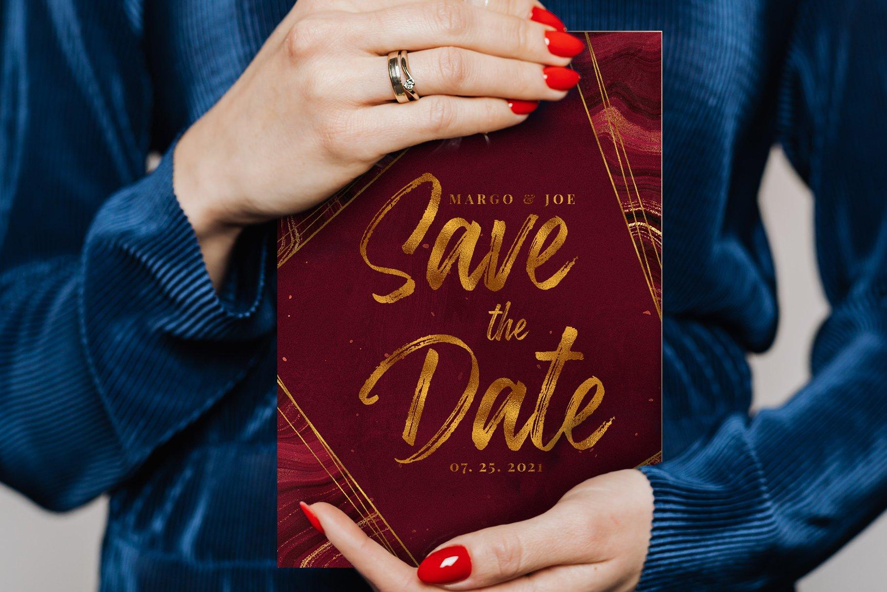 10款抽象奢华红色玛瑙石金箔纸纹理背景图片设计素材 Gold Veined Red Agate Textures插图5