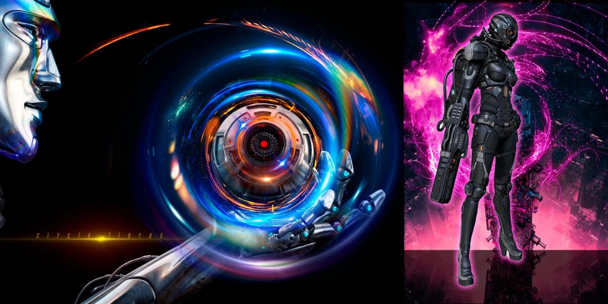 炫酷耀眼未来科幻罗恩光圈照片叠加层PNG透明图片设计素材 Rons Circle Flares插图7