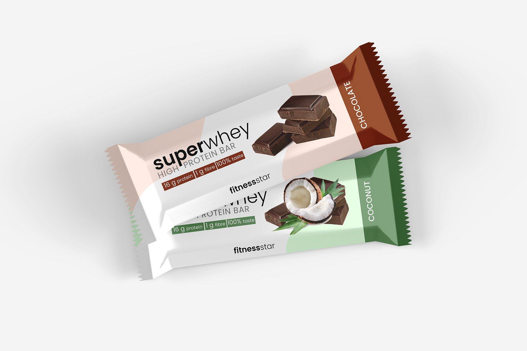 9款零食小吃塑料包装袋设计展示贴图样机 Snack Protein Bar Mockup – 9 Views插图8