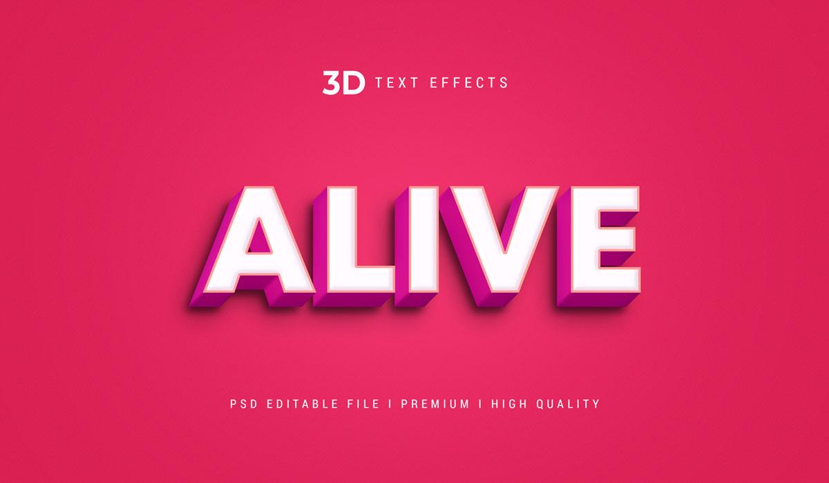 14款3D立体标题徽标设计PS样式模板素材 Text Effect Template插图2