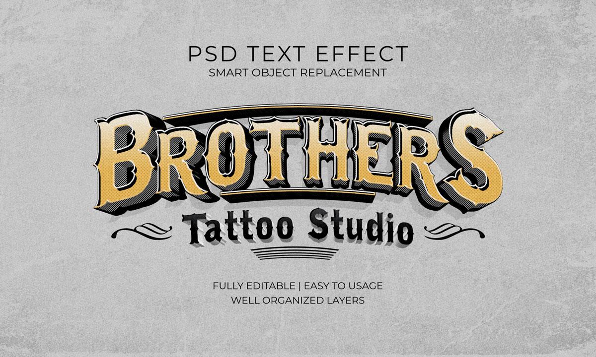 14款3D立体标题徽标设计PS样式模板素材 Text Effect Template插图5