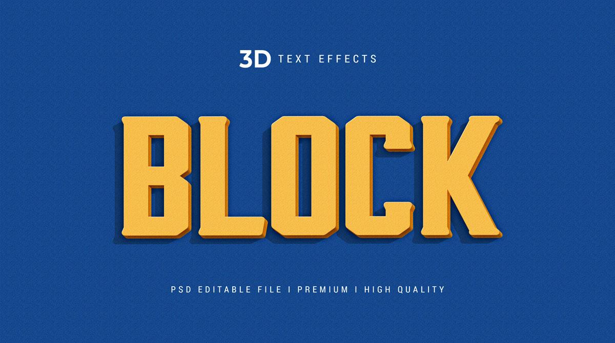 14款3D立体标题徽标设计PS样式模板素材 Text Effect Template插图4
