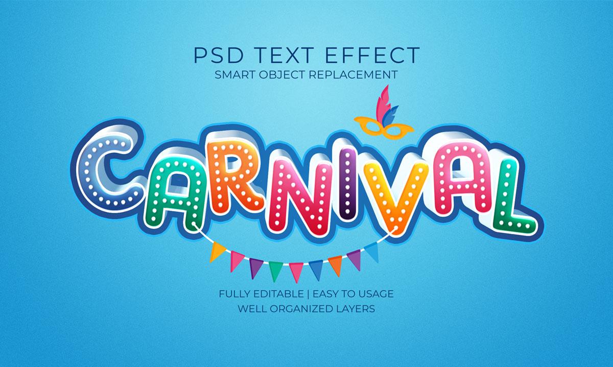 14款3D立体标题徽标设计PS样式模板素材 Text Effect Template插图6