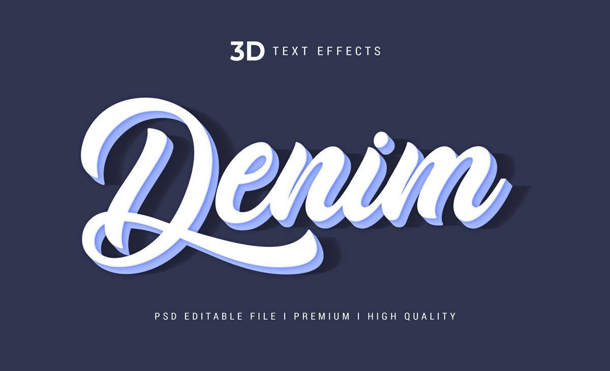 14款3D立体标题徽标设计PS样式模板素材 Text Effect Template插图8