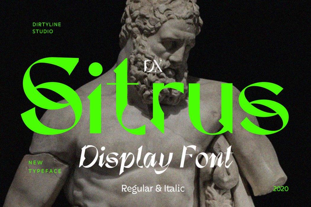 [淘宝购买] 现代潮流三角尖锐锋利标题徽标Logo设计衬线英文字体素材 Calliope Display Typeface插图